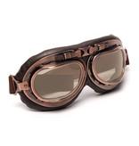 CRG vintage motorbril thee glas