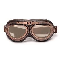 vintage motorbril thee glas