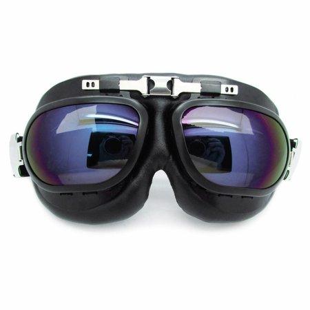 RAF zwarte motorbril