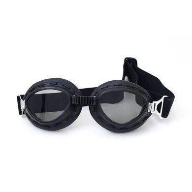 Zwarte steampunk motorbril