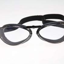 retro gunmetal motor goggles