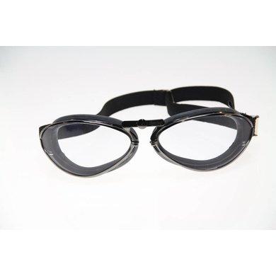 Aviator Goggle retro gunmetal motorbril