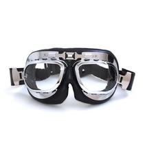 RAF chrome motor goggles