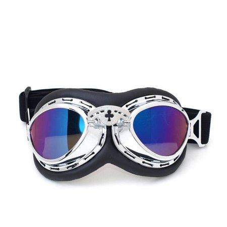 Chrome steampunk rider motorbril