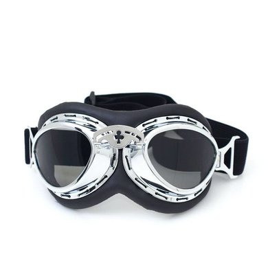 CRG Chrome steampunk rider motor goggles