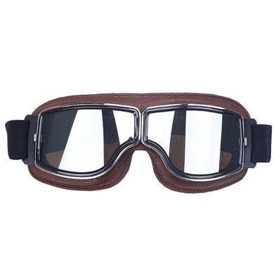 CRG bruin leren cruiser motorbril
