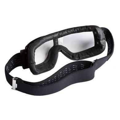 Aviator Goggle retro pilot T2 optical gunmetal black leather motor goggles