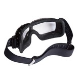 Aviator Goggle retro pilot T3 chromel black leather motor goggles