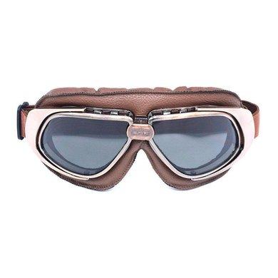 CRG vintage, brown leather motor goggles
