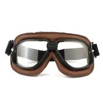classic, black-brown motor goggle