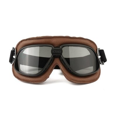 CRG classic, zwart-bruine motorbril