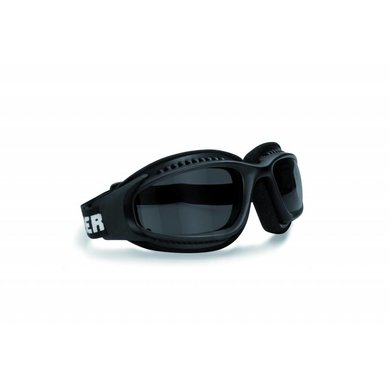 Bertoni AF113A black motor goggles antifog smoke glasses