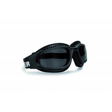 Bertoni AF113A zwarte motorbril antifog