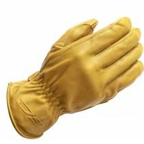 leather ace motor gloves beige