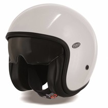 vintage U8 white open face helmet