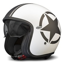 star 8BM white open face helmet