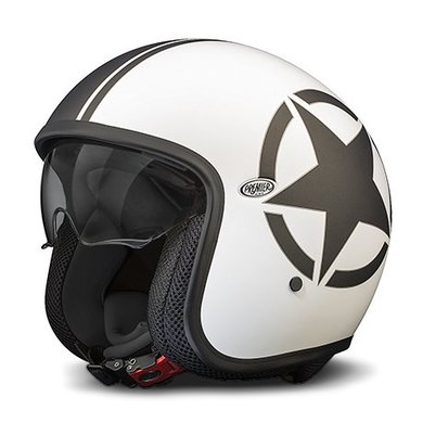 Premier star 8BM white open face helmet