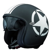 star 9BM black open face helmet