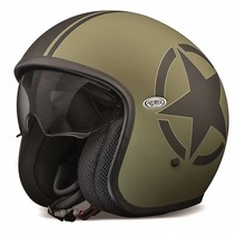 vintage star millitary open face helmet