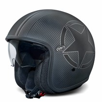 vintage carbon star BM open face helmet