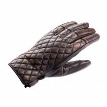 baldrine summer motor gloves brown leather | men