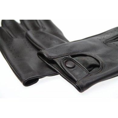 Swift retro racing gloves donker bruin | leren handschoenen