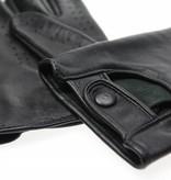 Swift retro racing leather gloves black