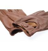 Swift retro racing mesh leather gloves nappa brown