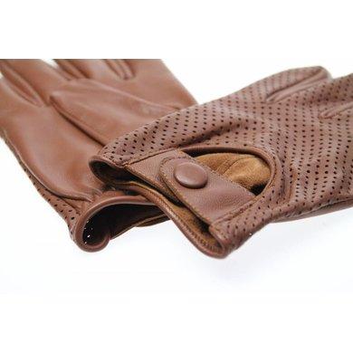 Swift retro racing mesh gloves nappa bruin | leren handschoenen