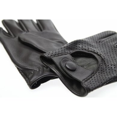 Swift retro racing mesh leather gloves dark brown