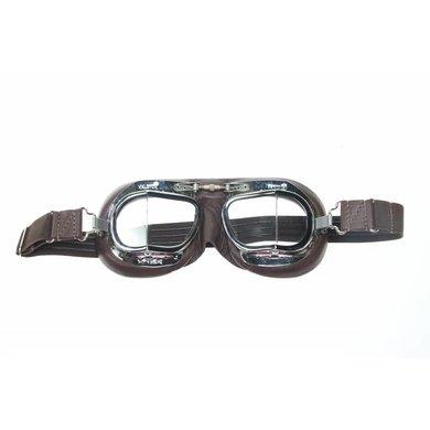 Halcyon mark 49 pilotenbril bruin leer