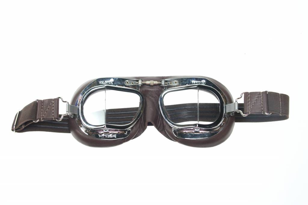 11cb872af91 Halcyon mark 49 pilot goggles brown leather