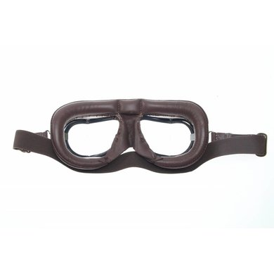Halcyon mark 49 pilot goggles brown leather