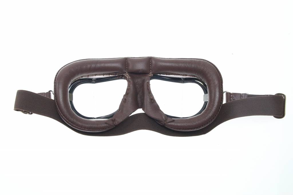 d89379970a Halcyon mark 49 pilot goggles brown leather