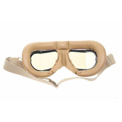 Halcyon mark 49 tan pilot goggles smoke glass