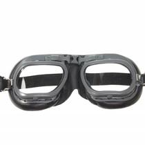 mark 7 retro motorbril zwart leer
