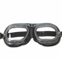 mark 7 retro goggle black leather