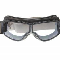 retro pilot T2 optical gunmetal bruin leren motorbril