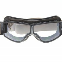 retro pilot T2 optical gunmetal brown leather motor goggles