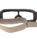 Aviator Goggle retro pilot T2 optical gunmetal bruin leren motorbril