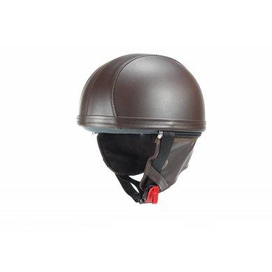 Vintage brown leather half helmet