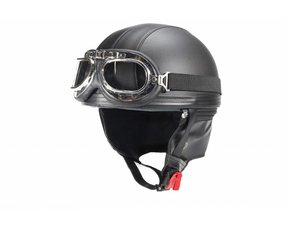 Leather half helmets
