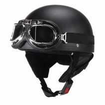 Mat black half helmet