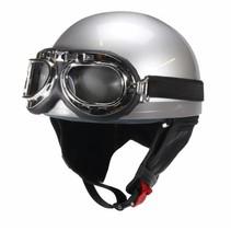 Grey half helmet