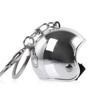 Keychain chrome jet helmet