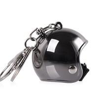 Keychain shining smoke jet helmet