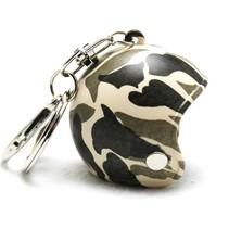 Keychain camouflage jet helmet