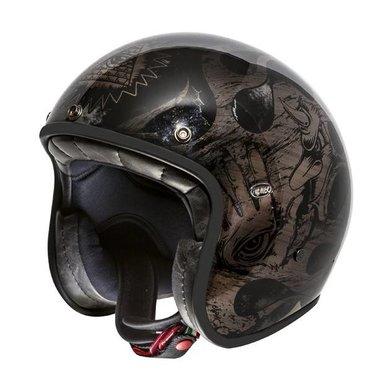 Premier le petit BD black chromed jet helmet