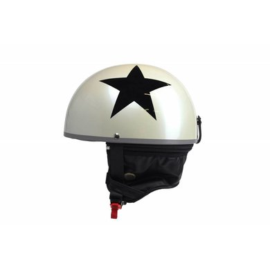White half helmet black star