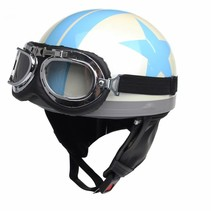 White half helmet light blue star